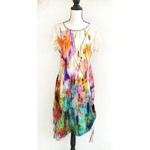 Beatrice .b Colorful Asymmetrical Silk Dress